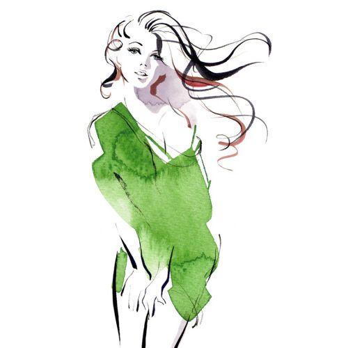 Style sample for veeto packs - Illustration by Katharine Asher