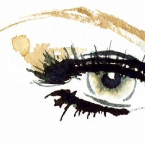 Illustration of eye makeup using OLAY ©Katharine Asher