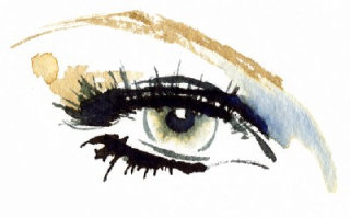 Illustration of eye makeup using OLAY ©Katharine Asher