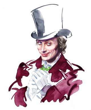 Magician character design illustration by Katharine Asher