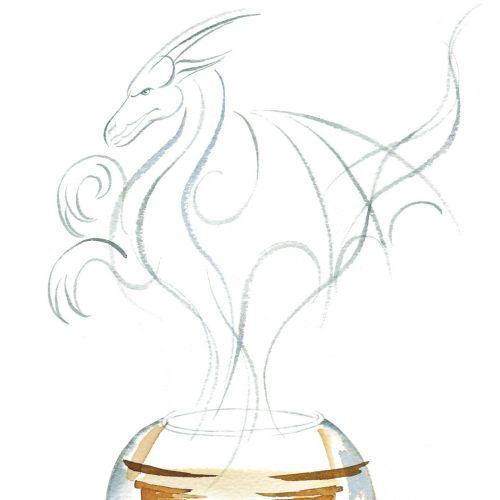 Watercolor illustration of Pekoe China Teas drink