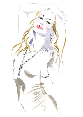 Portrait of CAT DEELEY Jewellery illustration by Katharine Asher