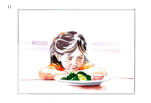 Watercolor Storyboard for TV parenting