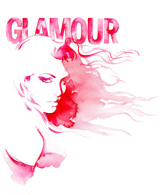 An illustration for Glamour magazine by Katharine Asher