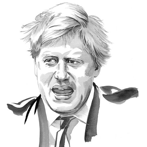 Portrait of Boris Johnson - An illustration by Katharine Asher
