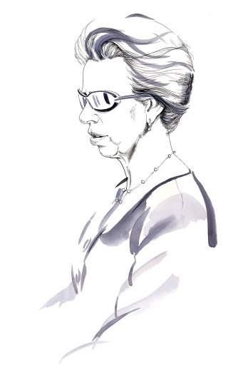 Portrait of Princess Anne illustration by Katharine Asher