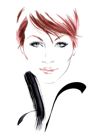 Woman eyelure illustration by Katharine Asher