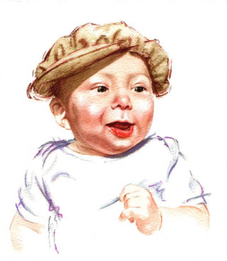 Baby illustration by Katharine Asher
