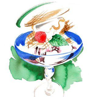 Choc n nut sundae ice cream artwork