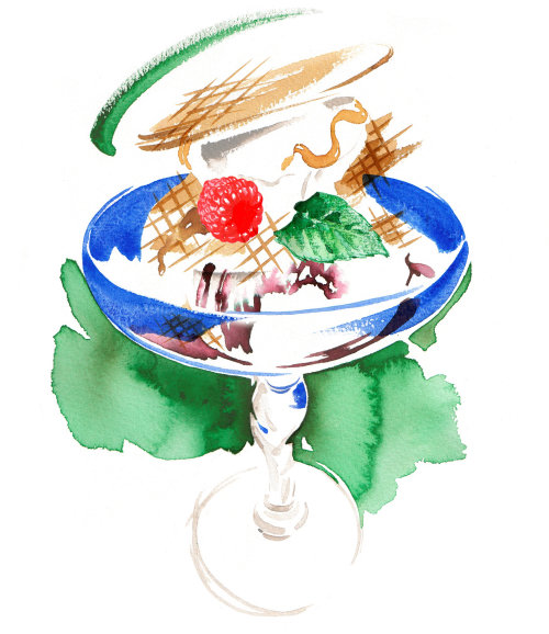 Choc n nut sundae ice cream artwork