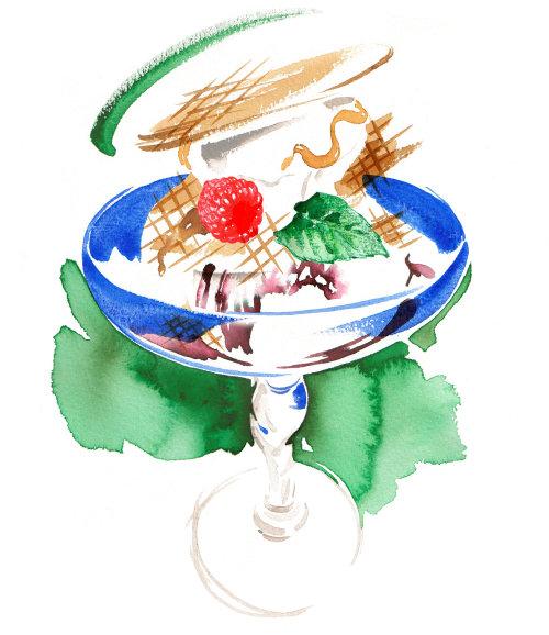 Arte finala do sorvete do sundae da porca de Choc n