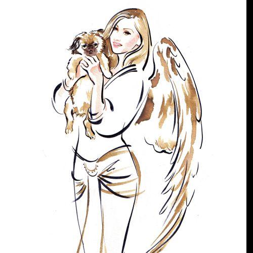 Woman fashion illustration by Katharine Asher