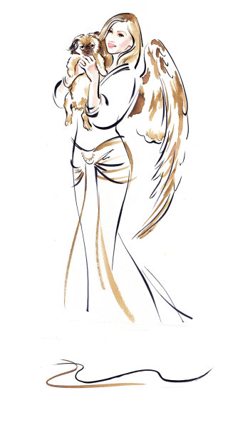 Woman fashion illustration by Katharine Asher
