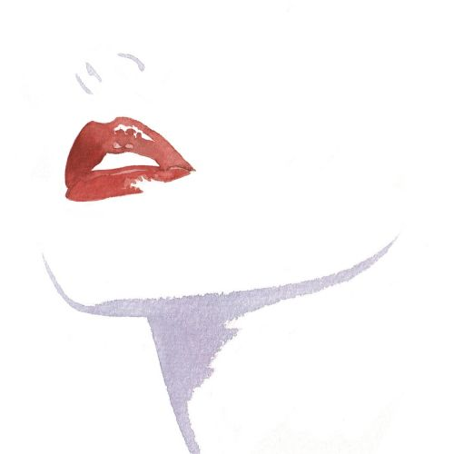 Lip makeup illustration by Katharine Asher