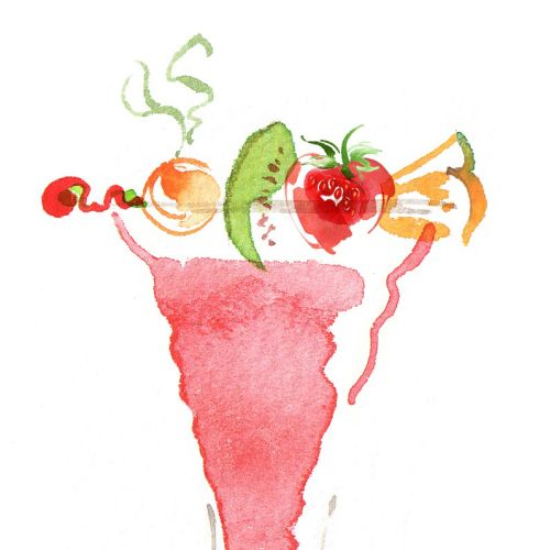 Fruit Cocktail illustration by Katharine Asher