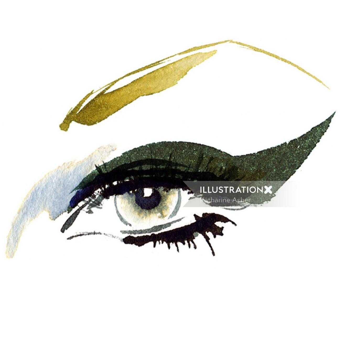 Eye illustration by Katharine Asher