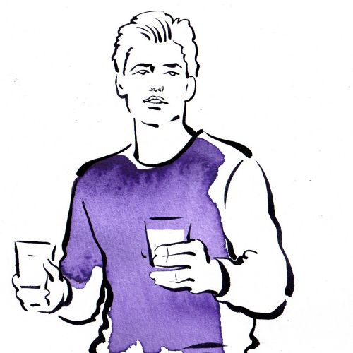 Man fashion illustration by Katharine Asher