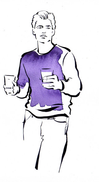 Man fashion illustration by Katharine Asher
