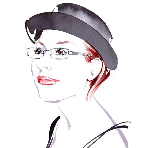 Portraiture of Sanja - An illustration by Katharine Asher