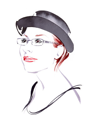 Portraiture of Sanja - An illustration by Katharine Asher