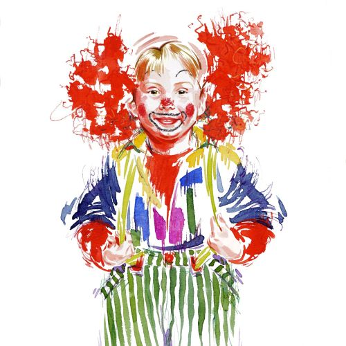 Red Nose Day illustration by Katharine Asher