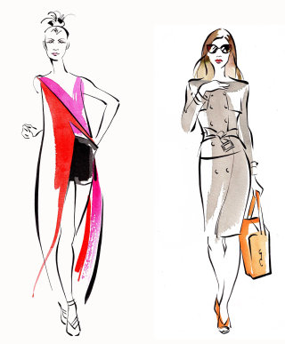 Woman fashion illustration