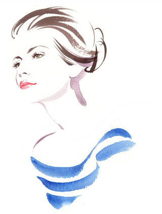 Woman beauty illustration by Katharine Asher
