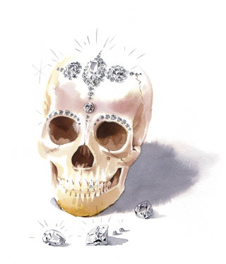 An illustration of skull
