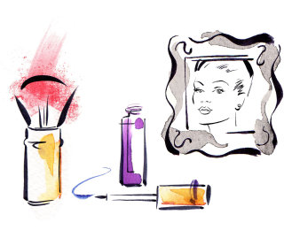 Cosmetics illustration by Katharine Asher