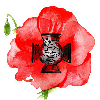 Victoria Cross illustration by Katharine Asher