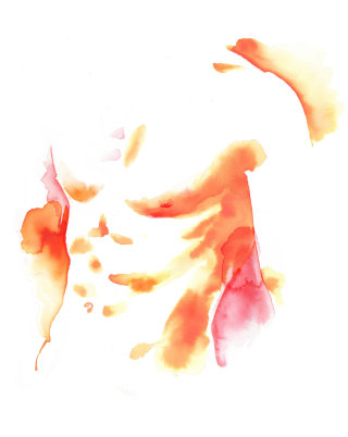 Man chest Cosmetic Enhancement - An illustration by Katharine Asher
