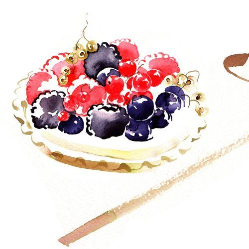 Summer Fruits illustration by Katharine Asher