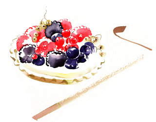 Summer Fruits illustration by Katharine Asher