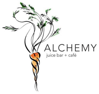 Logo for Juice Bar & Cafe illustration by Katharine Asher