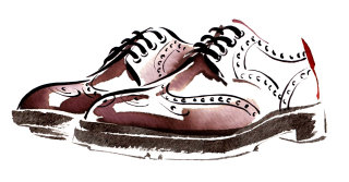 Shoes illustration by Katharine Asher
