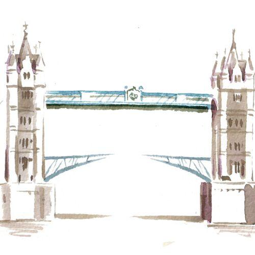 Tower Bridge illustration by Katharine Asher