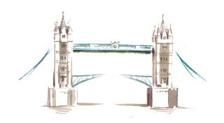 Tower Bridge illustration by Katharine Asher