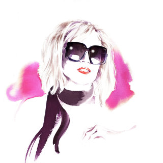 Annie nightingale portrait illustration by Katharine Asher