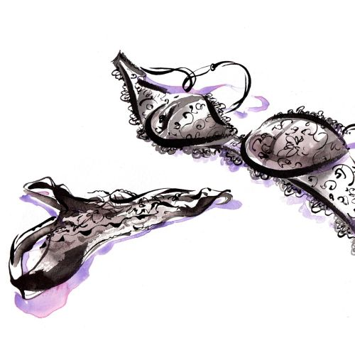 An illustration for Calvin Klein by Katharine Asher