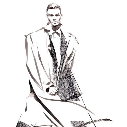 Men Suite illustration by Katharine Asher