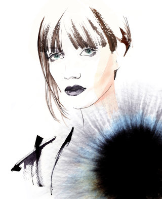 Eye fashion illustration by Katharine Asher