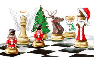 The Christmas game illustration by Katharine Asher