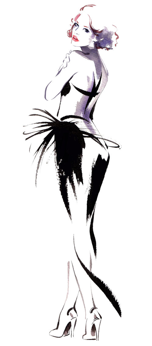 Lady fashion illustration de Katharine Asher