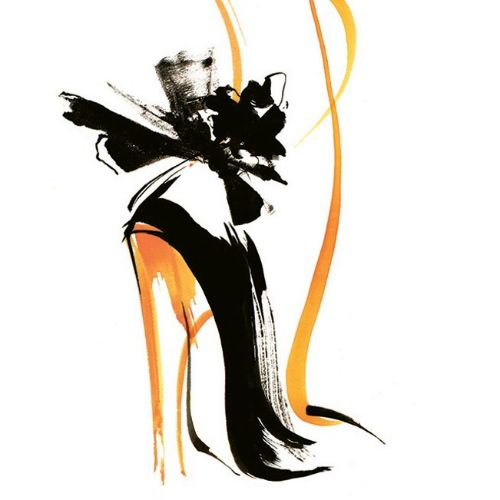 Ladies heels footwear illustration by Katharine Asher