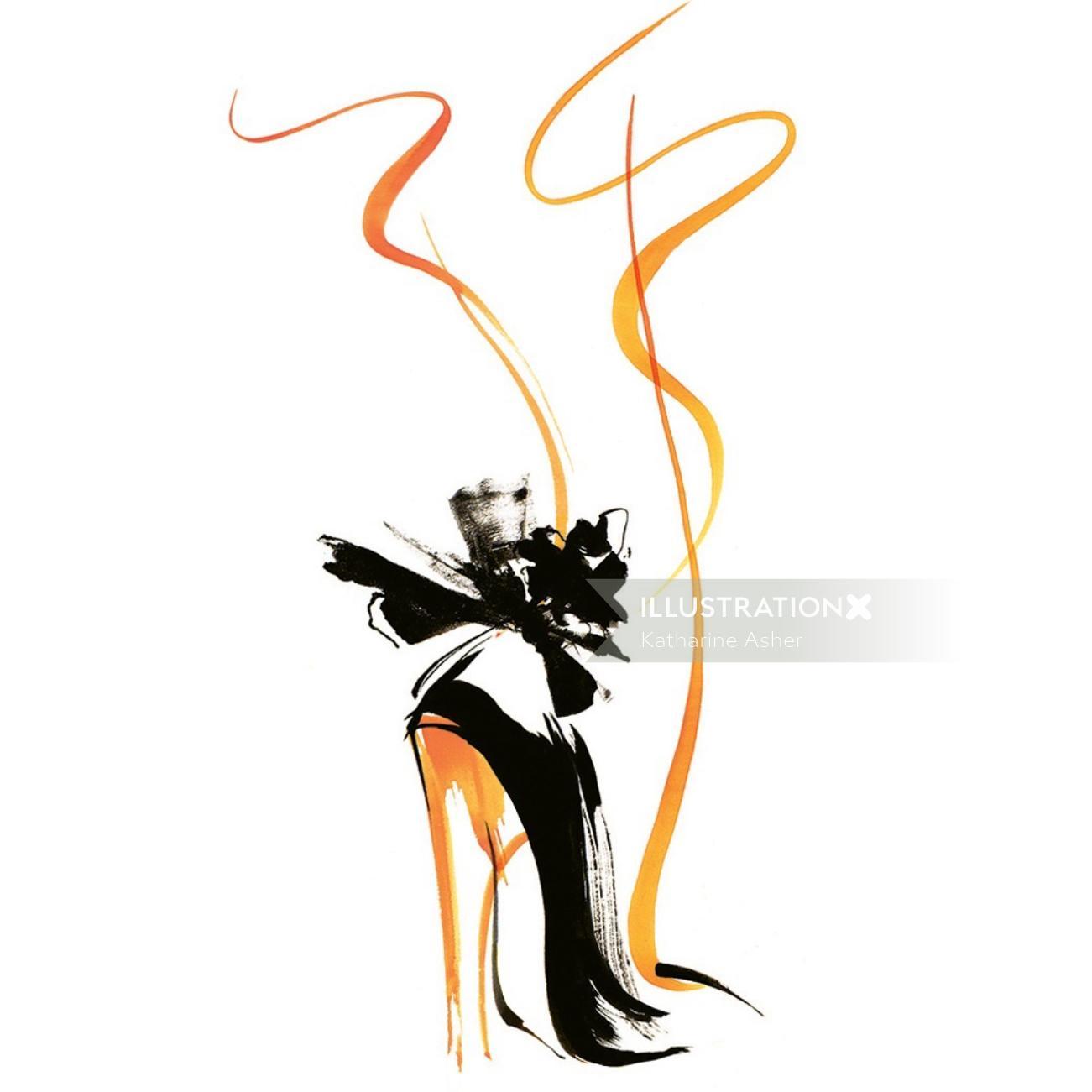 Ladies heels footwear illustration by Katharine Asher