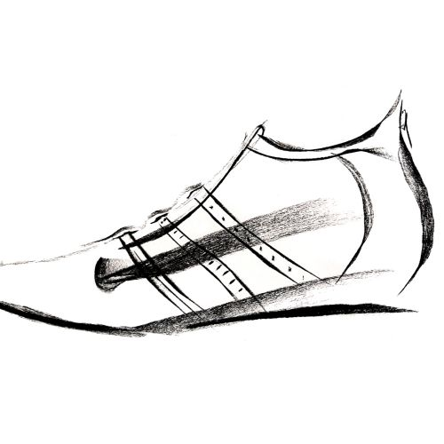 shoe line art
