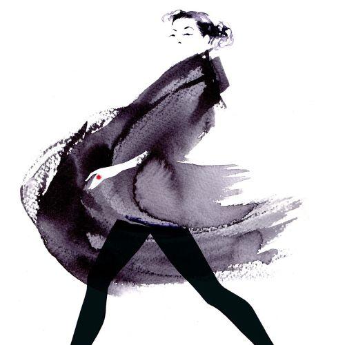 Katharine Asher Black & White Illustrator from UK