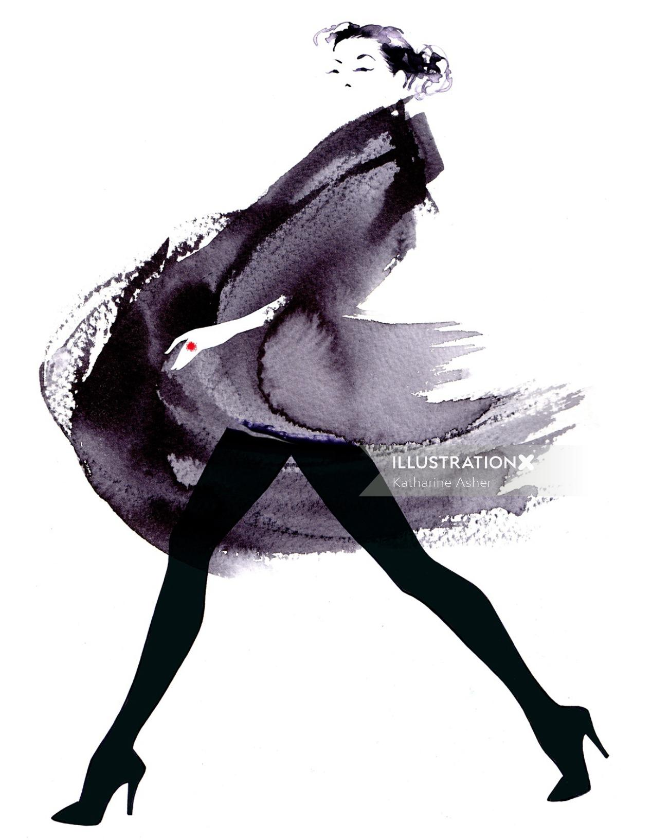Fashion Illustration For Financial Times