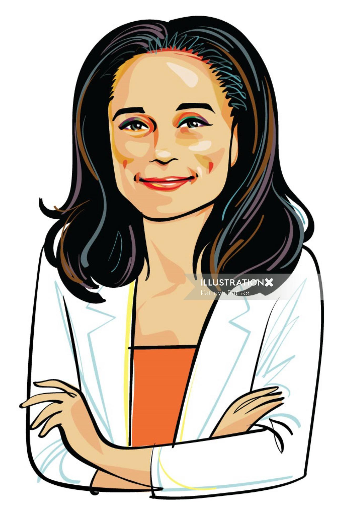 Portrait of Isabel Dos Santos