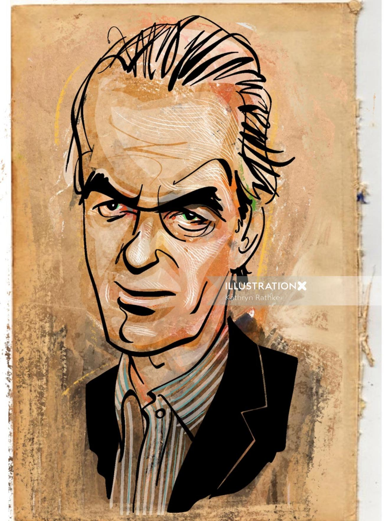 Portrait of Martin Amis